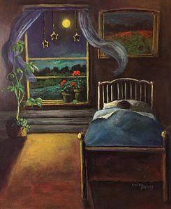 Painting - Moon Stars And Dreams by Randol Burns