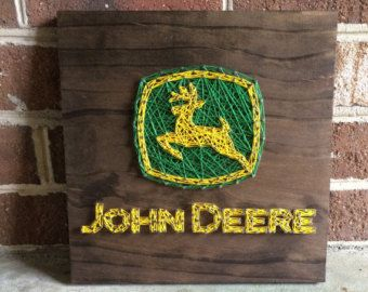 John Deere Tractor .. country home decor by BoggyCreekPrimitive