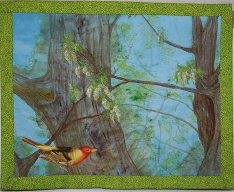 Springtime - Quilting Daily: Quilting Daily, Quilt Ideas, Art Quilt, Quilting Leaves, Birds, Medium