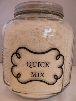 All-Purpose Quick Mix Recipe ~ This is my everyday go to mix for Biscuits, Shortcake, Coffee Cake, Scones and even a delicious self crusting Quiche.  You can use this mix in any recipe calling for Biscuit Mix.