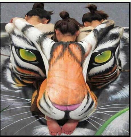 people art tiger
