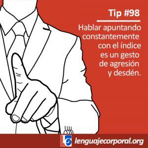 Tip 98: Un gesto insoportable con el índice