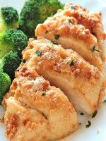 Baked Garlic Parmesan Chicken-- This looks like a recipe my family will love. I'll be trying this one soon.