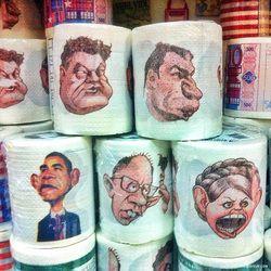 В России появилась туалетная бумага с изображением украинских лидеров