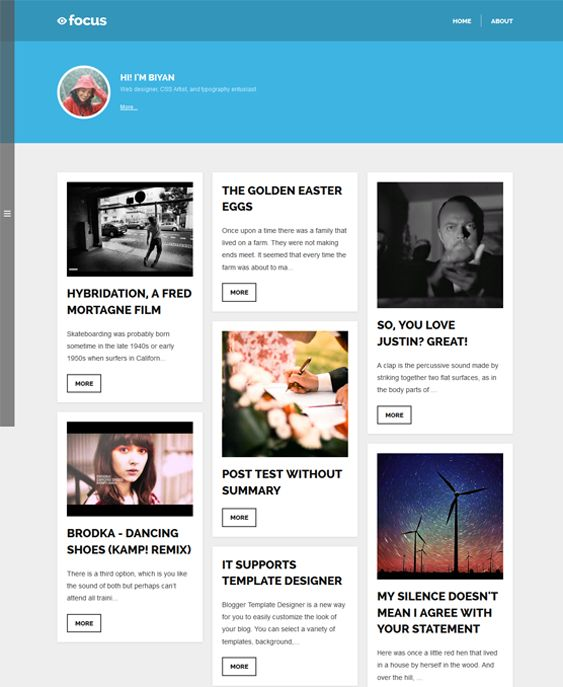 13 best 13 of the Best Flat Blogger Templates images on Pinterest ...