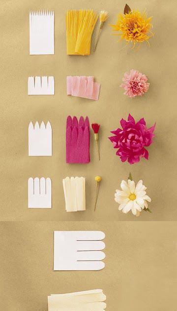 Papel Crepom no Pinterest  Papel Crepom, Flores De Papel e Peônias