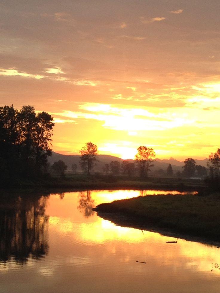 Sunrise near the Alouette River