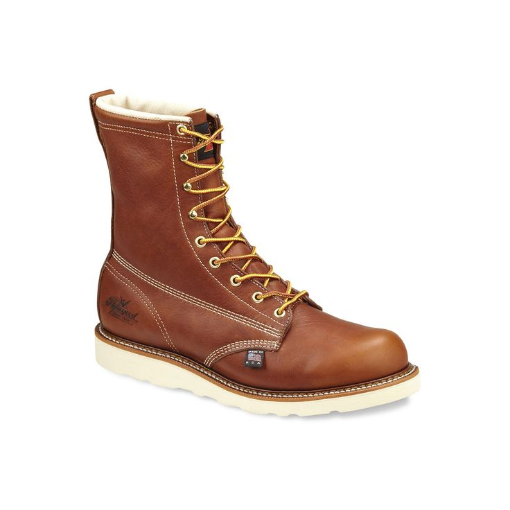 Thorogood American Heritage Men's Waterproof Safety-Toe Work Boots, Size: 11.5 Med D, Brown