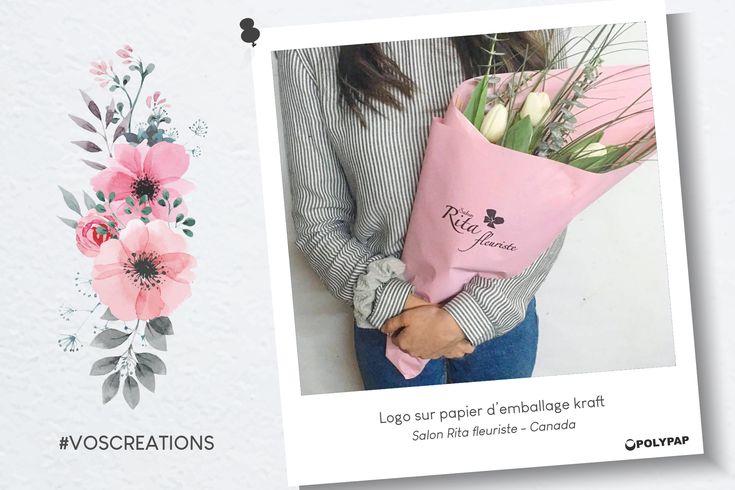 Merci au salon canadien Rita fleuriste pour le partage de son bouquet emballé dans notre papier kraft !