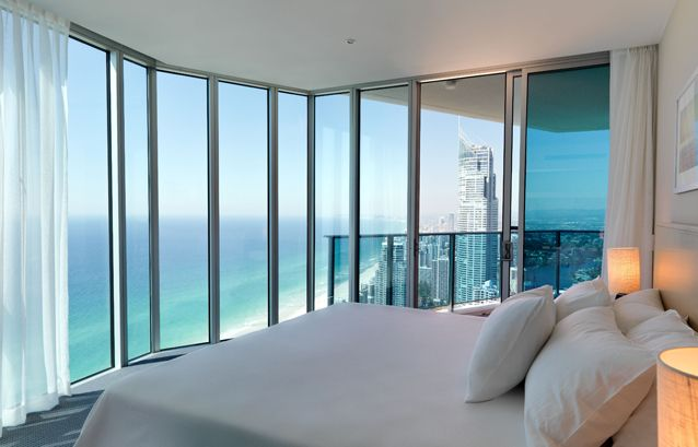 Hilton Hotel Surfers Paradise, Australia. Now that's what I call a room with a view!