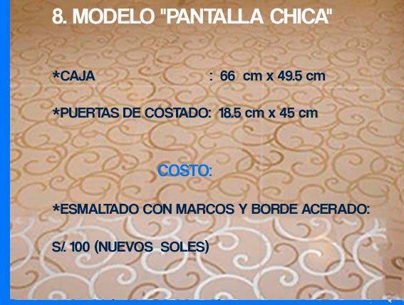 """GABINETE PARA BAÑO  8. MODELO """"PANTALLA CHICA"""""""
