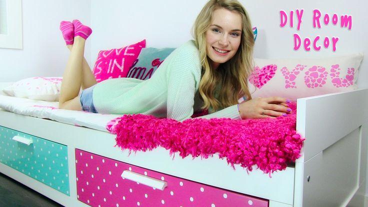 DIY Room Decor! 10 DIY Room Decorating Ideas for Teenagers (DIY Wall Dec...
