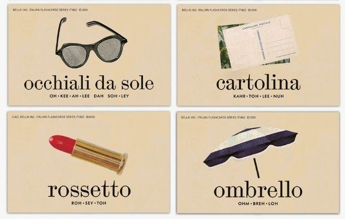 Italian Picture Flashcards