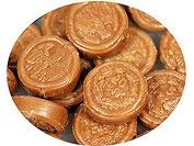 Karamell-Münzen mit Nougat-Creme-Füllung
