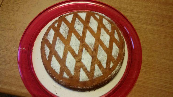 Torta con noci e jogurt bianco