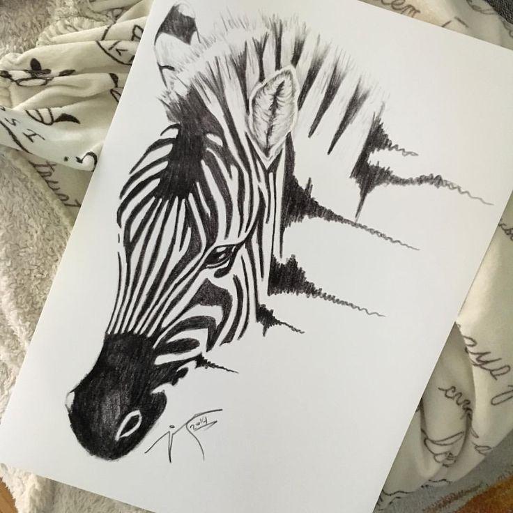 "Polubienia: 606, komentarze: 1 – Jimmy Mätlik (@jm_artwork) na Instagramie: ""This print will be available when the shop is up! #scribble #zebra"""