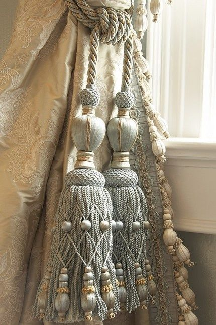 Fabulous tassels to decorate. http://www.annabelchaffer.com/. By Priory Home Atelier