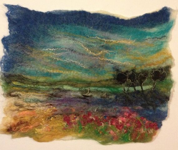 Irish felted art The little sea by OlannAlainnArts on Etsy