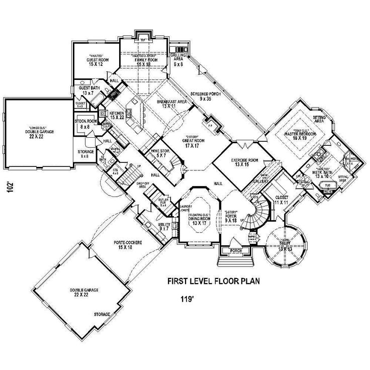 porte cochere master guest on 1st floor house plans pinterest house plans home and floor plans