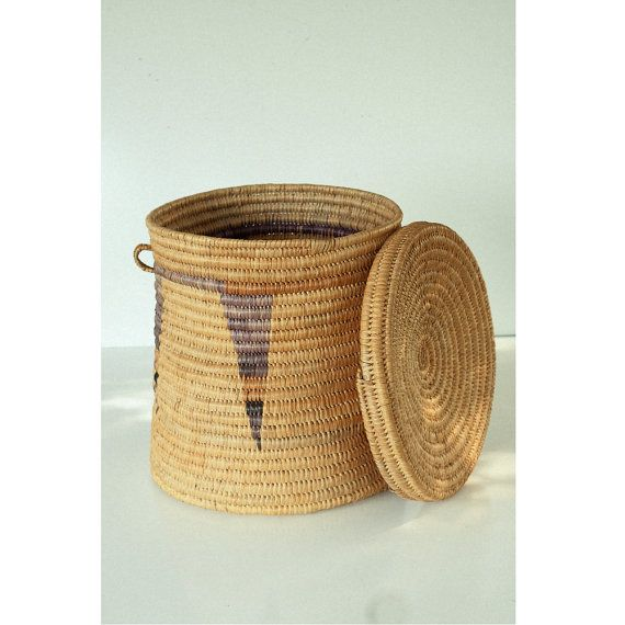 BASKET HAMPER HUGE SouthWestern woven   Brought by TheHeartTheHome