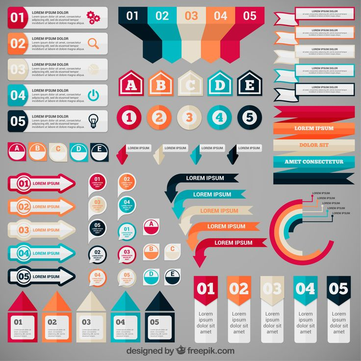 Freebie Release: 5 Sets of Infographic Banners by Freepik