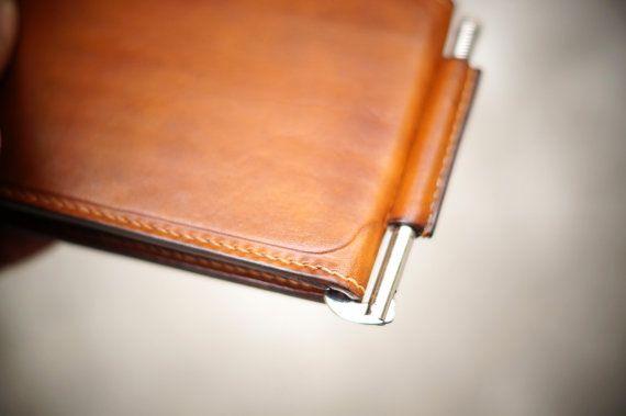 Minimalist Money Clip Wallet Walnut от GMleathercraft на Etsy