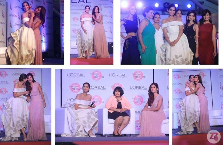Katrina Kaif and Sonam Kapoor share hugs and kisses at an event