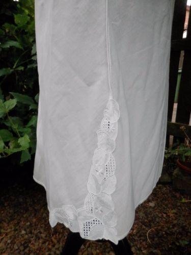 LADIES SLIP White LINGERIE Retro St Michael Ladies Underskirt White Small