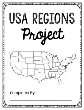 USA Regions Activity FREEBIE, Project Guide, State History Lesson, Geography