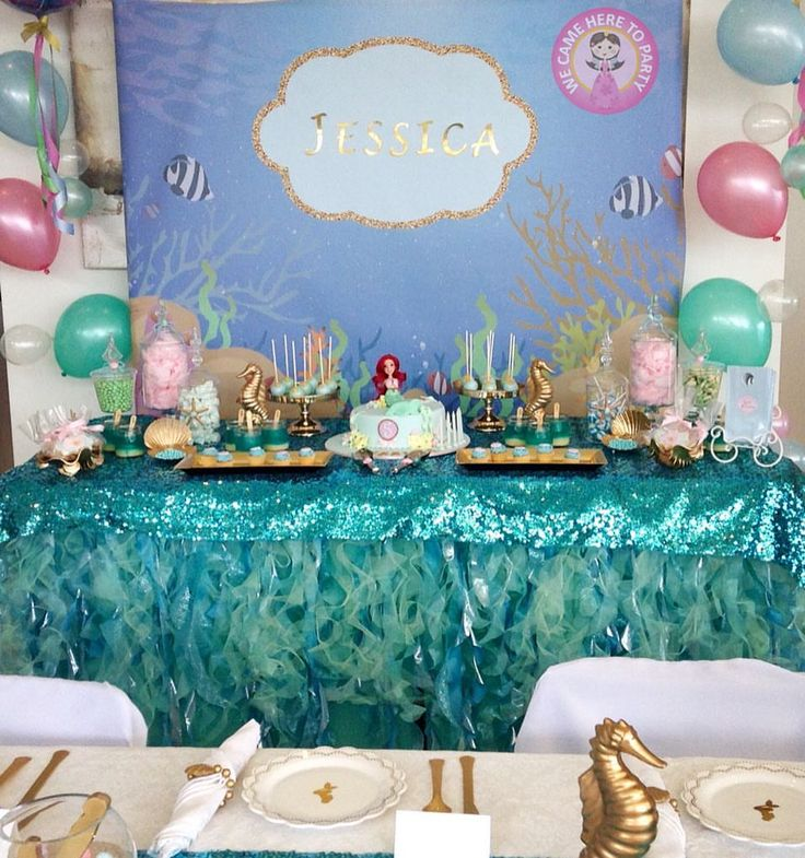 """48 Likes, 7 Comments - We Came Here To Party (@wecameheretopartyaus) on Instagram: """"🐚Mermaid Luxe Dessert Table🐚"""""""