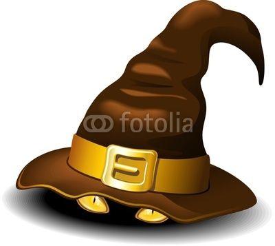 #Witch #Hat with #Yellow #Cat #Eyes   #Cappello di #Strega / #Befana con #Occhi di #Gatto - #Vector © bluedarkat  http://it.fotolia.com/id/26839659
