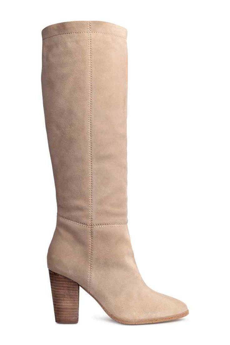 Замшевые сапоги до колена | H&M