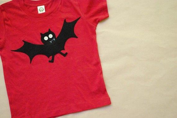bosworth the felt bat halloween tshirt baby up by bchildrenswear, $28.00