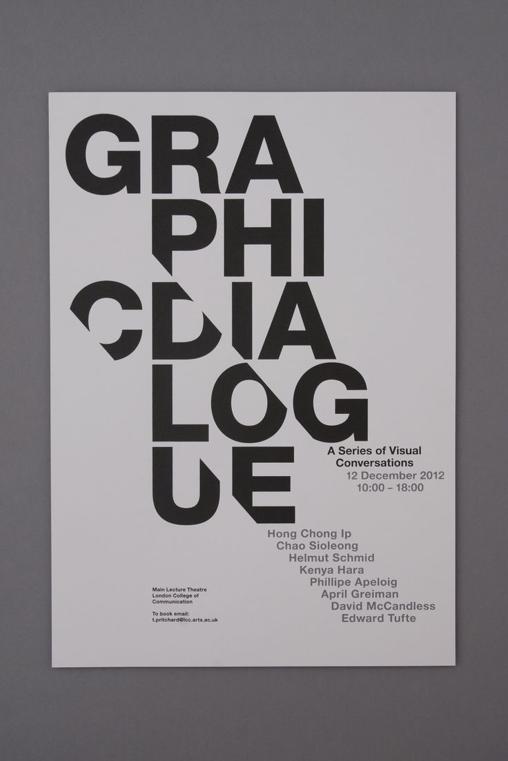 How to be good at graphic design typography poster