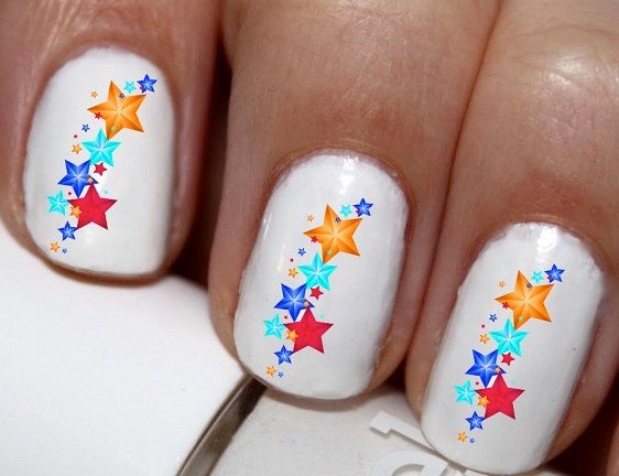 20 pc Shooting Stars And Lines Nail Art Nail by EasyNailTrends