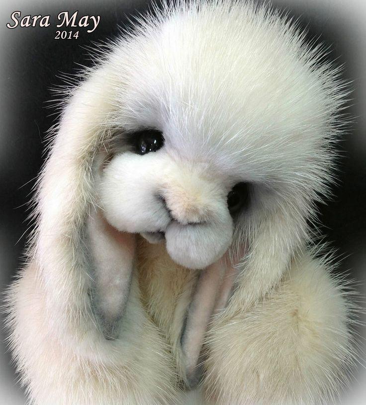 Realistic Baby Lop eared Bunny Rabbit -Real Mink by Teddy Bear Artist Jenea Ivey