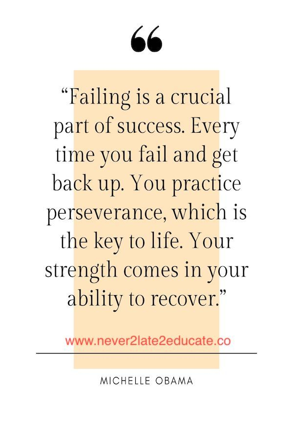 Failing Is A Crucial Part Of Success Michelle Obama Quotes Inspirational Quotes Failure Quotes