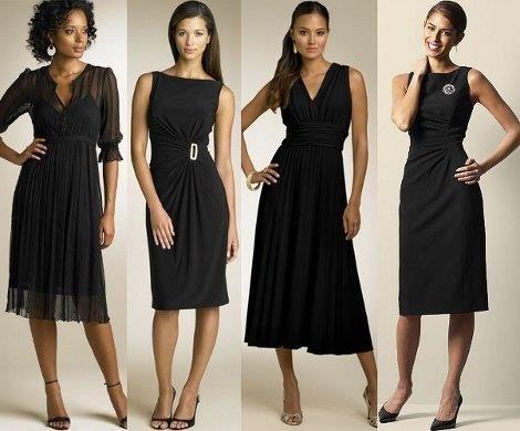 Маленькое черное платье все модели на фото