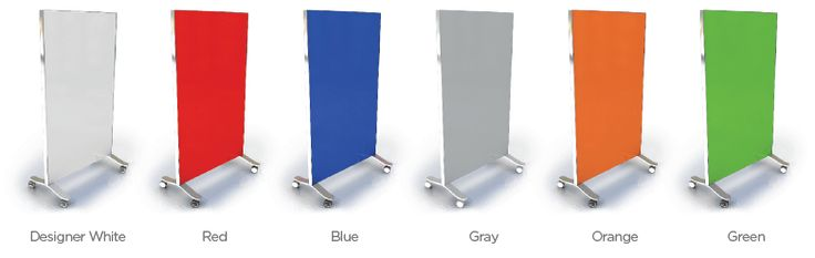 Portable glass whiteboards come rollable for easier transport and more mobility throughout any office for any occasion.