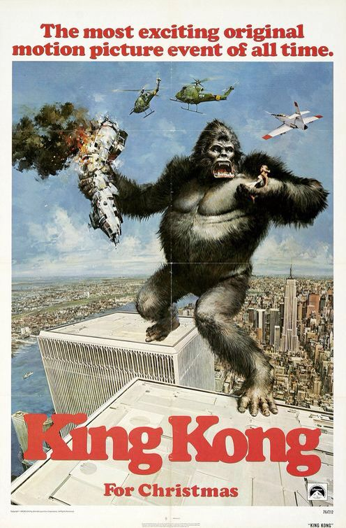King Kong movie poster - came free in the Sunday Sun newspaper in 1976. I proudly taped it to my 70s orange wardrobe back in the day
