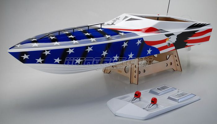 Exceed Racing FiberGlass EAGLE 1300GS260  Gas Powered Speed Boat KIT