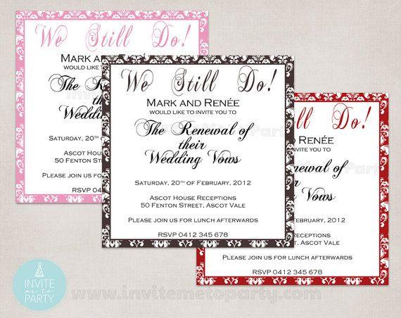 Vow Renewal Invitation / Wedding Invitation / by InviteMe2Party, $12.00