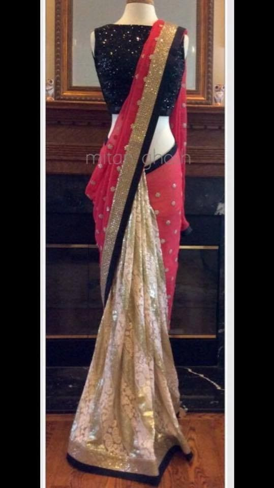 Beautiful Red Designer Bollywood saree online ,Veeshack.com | Fashion for the World - 1