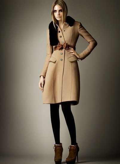 More Burberry, Pre-Fall 2012. The lines are perfection.