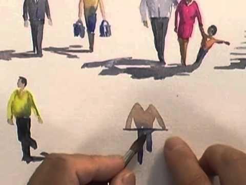 Watercolour Figures Lesson - Simplifying Figures (Part 2) - YouTube