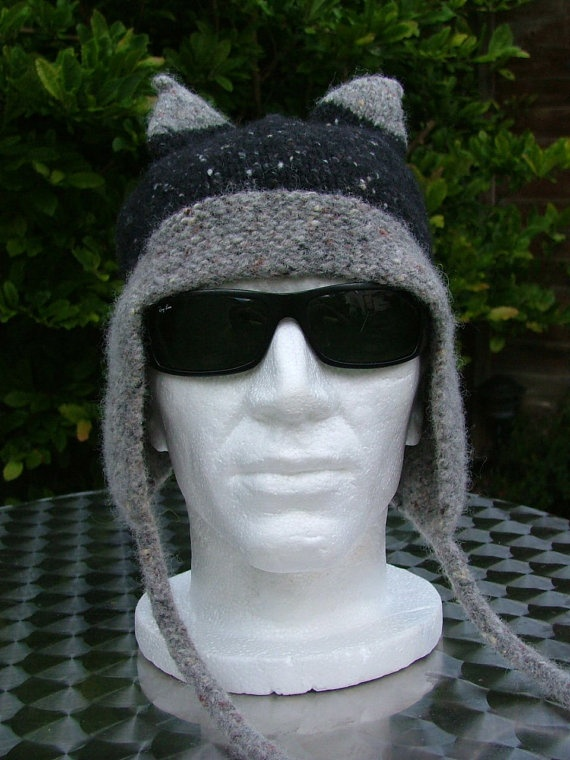 Viking Hat Grey and Black by Hazeldonnelly on Etsy, $67.00