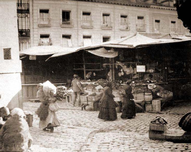 Fotos antiguas: El mercado de San Miguel en 1910 | Secretos de Madrid