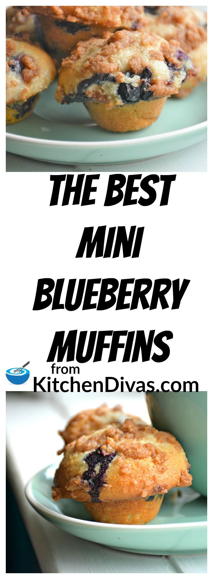 These Mini Blueberry Muffins are so yummy!  We usually use store bought pureed applesauce instead of vegetable oil to make these muffins and they turn out perfect every time.  Whether you make the muffins big or small, this recipe is one you will make over and over again!