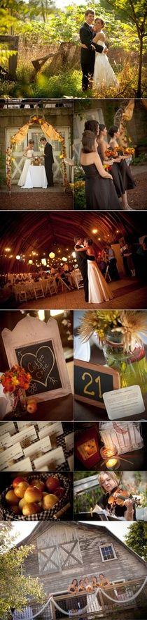 A fall barn wedding. #countrywedding #cowboyboots #westernwedding