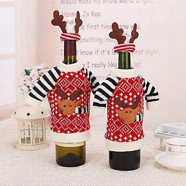 1db borosüveg terjed karácsonyi asztaldísz elk szarvas agancs kalap ruhák díszítésére háztartási 5137689 2016 – €4.89